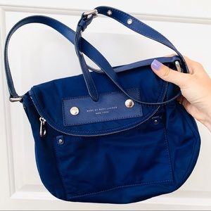 Marc Jacobs Mini Nylon Natasha Crossbody Blue Bag